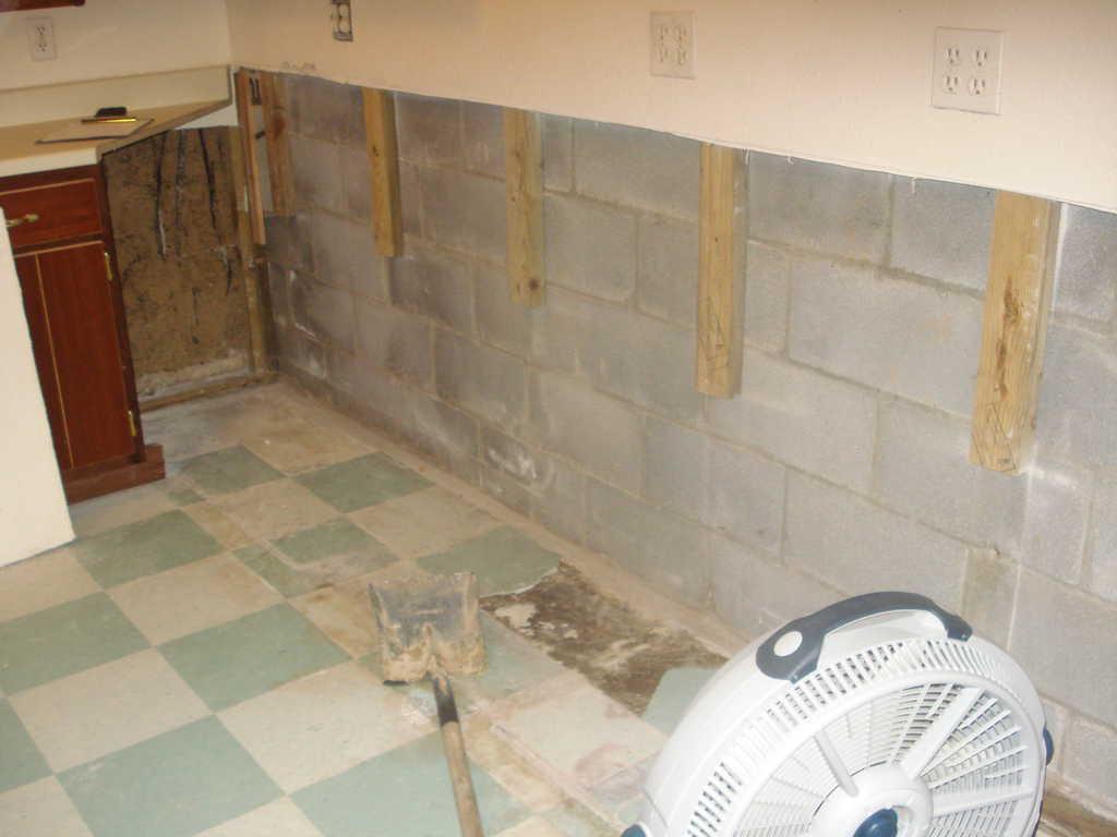 Basement Waterproofing in Robbinsville, NC - Before Photo
