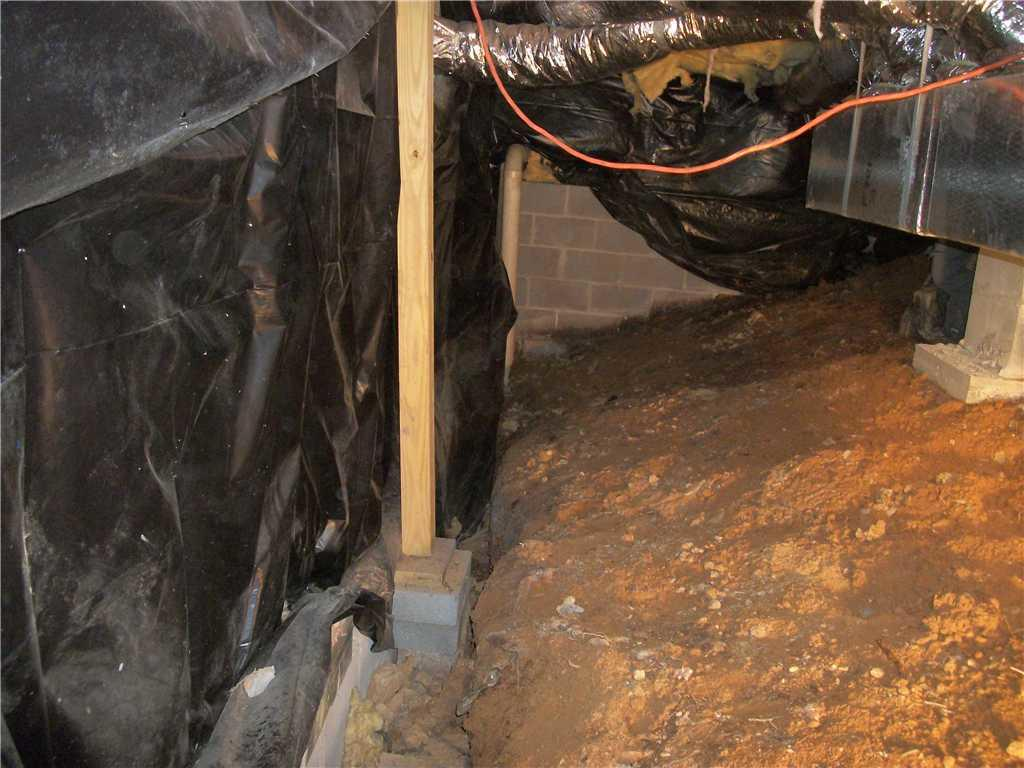 Soaked Crawlspace in Brasstown, NC Gets a Full CleanSpace Encapsulation - Before Photo