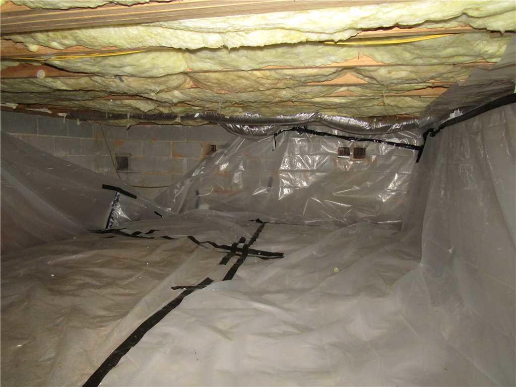 DIY Encapsulation Fails Fletcher, NC Homeowner, Crawlspace Receives CleanSpace Encapsulation - Before Photo