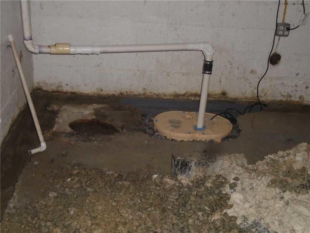 Home with Severe Water Intrusion in Columbia, SC Basement Has NewTripleSafe Sump Pump Installed - After Photo