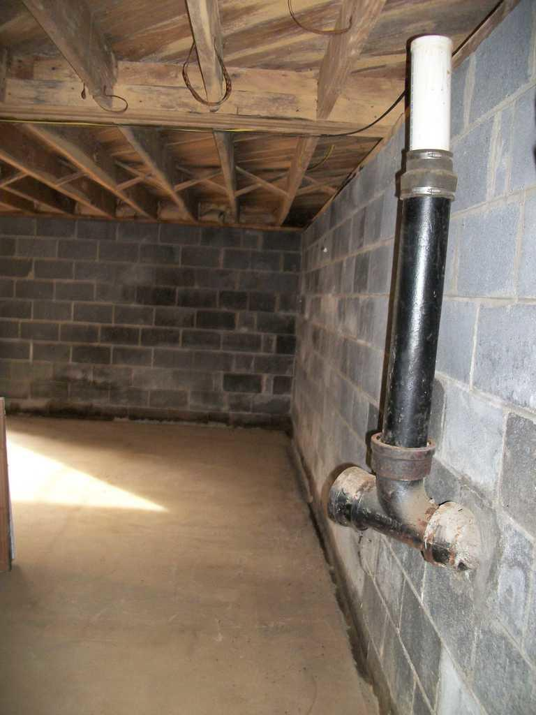 We Install WaterGuard in Basement Burnsville, NC - Before Photo