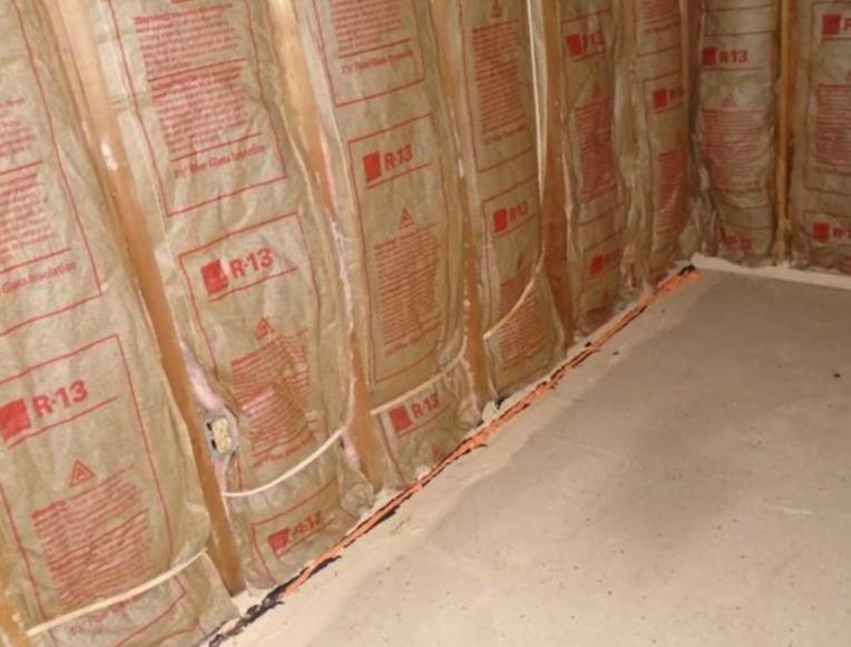 WaterGuard and SuperSump Installed in Columbia, SC Unfinished Basement - Before Photo