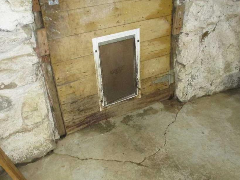 WaterGuard in Weaverville, NC basement - Before Photo
