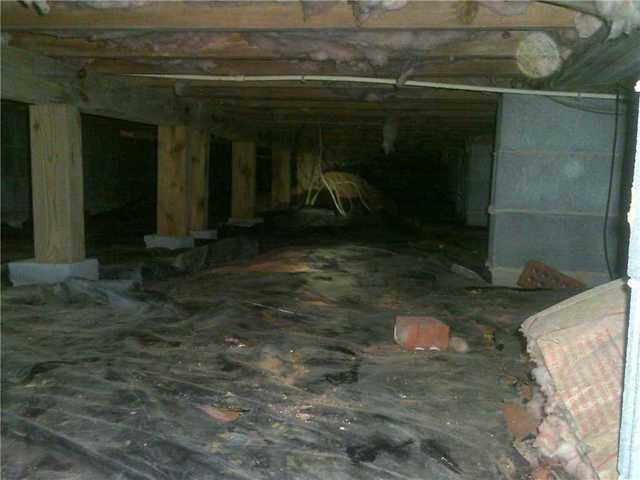 Crawlspace Encapsulation with CleanSpace in Old Fort, NC - Before Photo