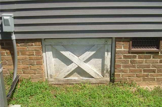 New EverLast Crawlspace Door for Union Mills, NC Crawlspace - Before Photo