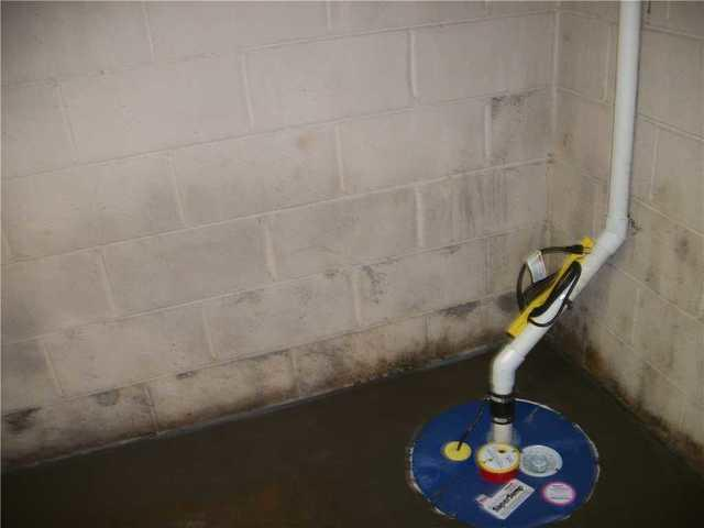 WaterGuard and SuperSump Installed in Alexander, NC Basement with Water Intrusion