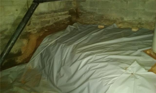 Crawlspace with Severe Water Intrusion Gets CleanSpace Encapsulation in Greer, SC