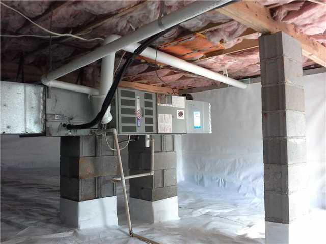 CleanSpace Installed in Damp Anderson, SC Crawlspace with Water Intrusion