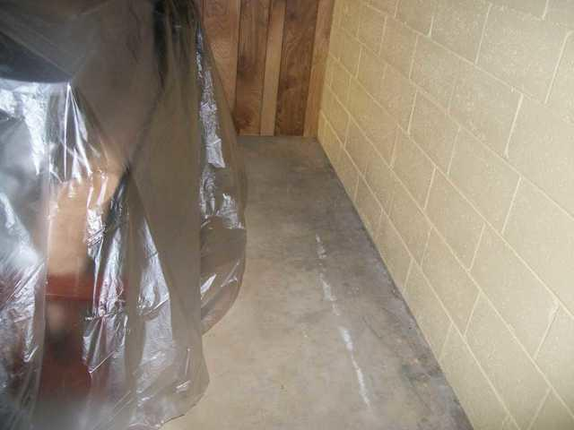 Semi-Finished Pelzer, SC Basement  with Water Intrusion Has WaterGuard Drain Installed