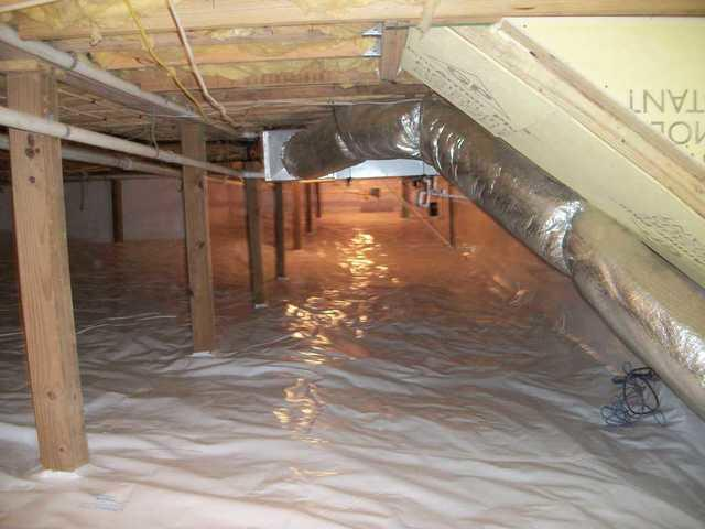Cullowhee, NC Crawlspace in Need of Moisture Control Gets CleanSpace Encapsulation