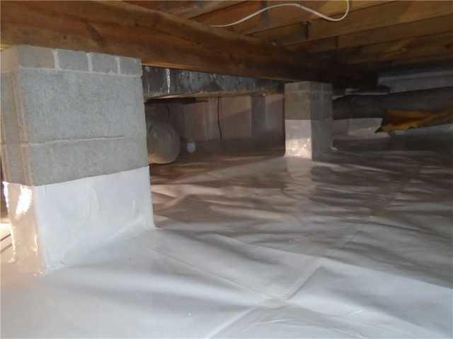 Damp Chapin, SC Crawlspace with Falling Insulation Gets CleanSpace Encapsulation