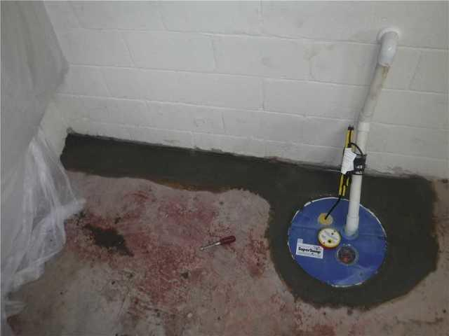 Spartanburg, SC Basement with Water Issues Receives SuperSump and WaterGuard