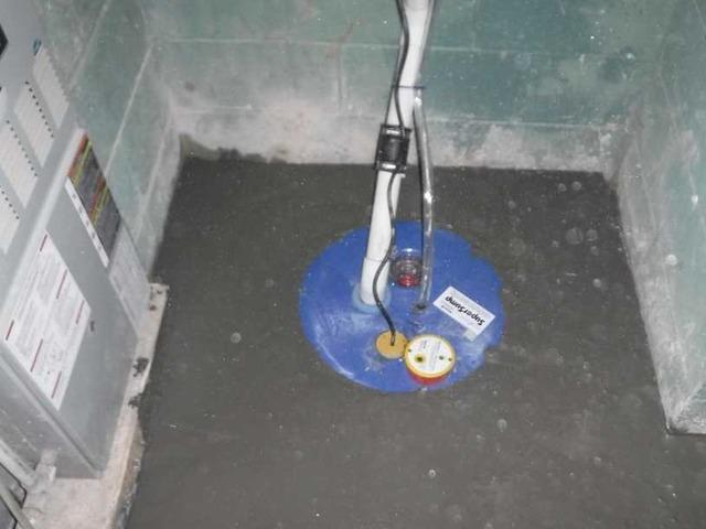 Brevard, NC Basement Has SuperSump Installed in Perfect Position