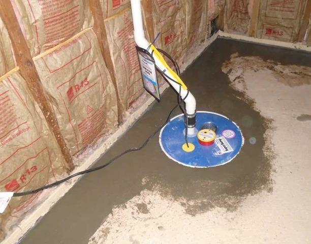 WaterGuard and SuperSump Installed in Columbia, SC Unfinished Basement - After Photo