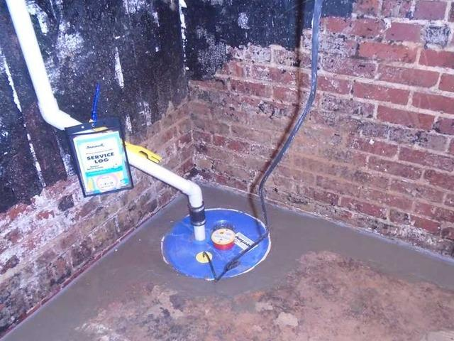 SuperSump Installed in Wet Basement in Columbia, SC - After Photo