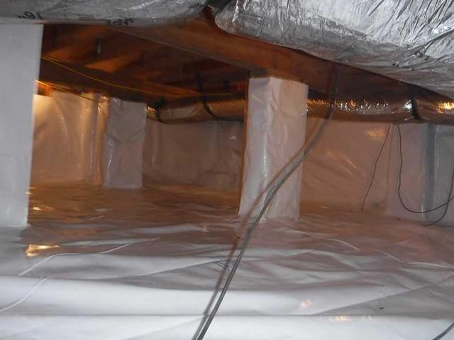 Vapor Barrier Needed and Well Deserved in Piedmont, SC Crawlspace