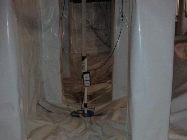 SuperSump Pump Placed in Crawlspace in Columbia, SC