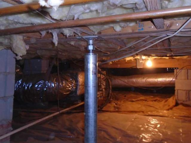SmartJacks installed in Moore, SC Crawlspace