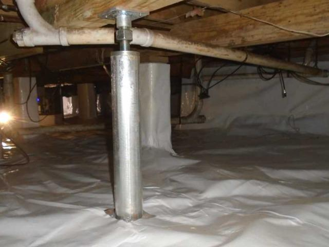 SmartJacks installed in Taylors, SC Crawlspace