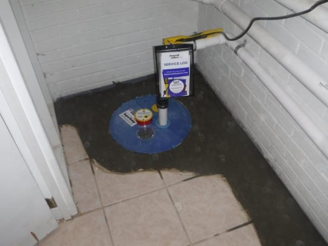 New Sump Pump in Hendersonville, NC Basement