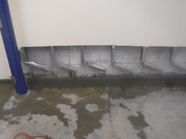 Waterguard installed in Unfinished Basement - After Photo