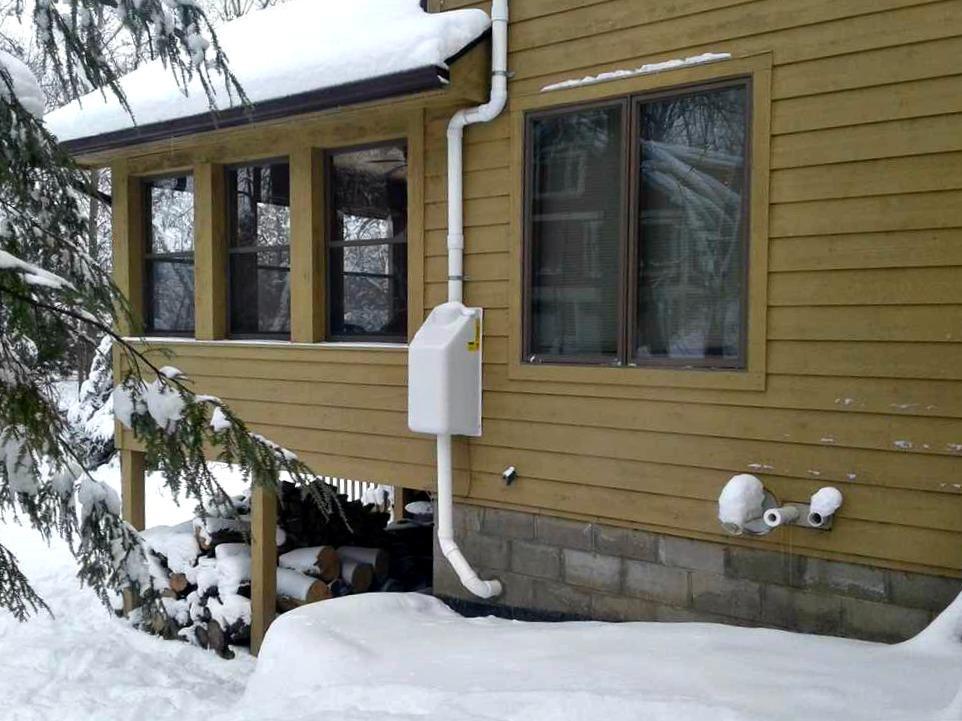 Radon Mitigation in Northfield, MN - After Photo