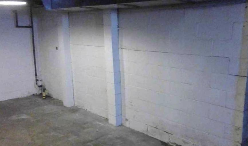 Bowing Foundation Wall in La Crescent, MN - Before Photo