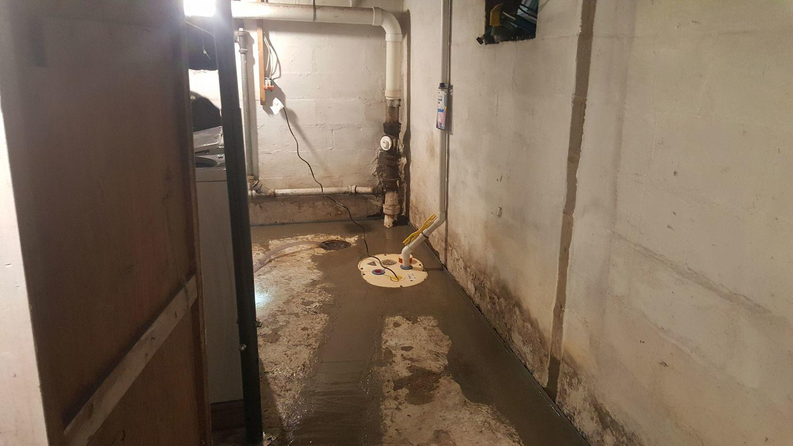 Basement Waterproofed in Tomah, WI - After Photo