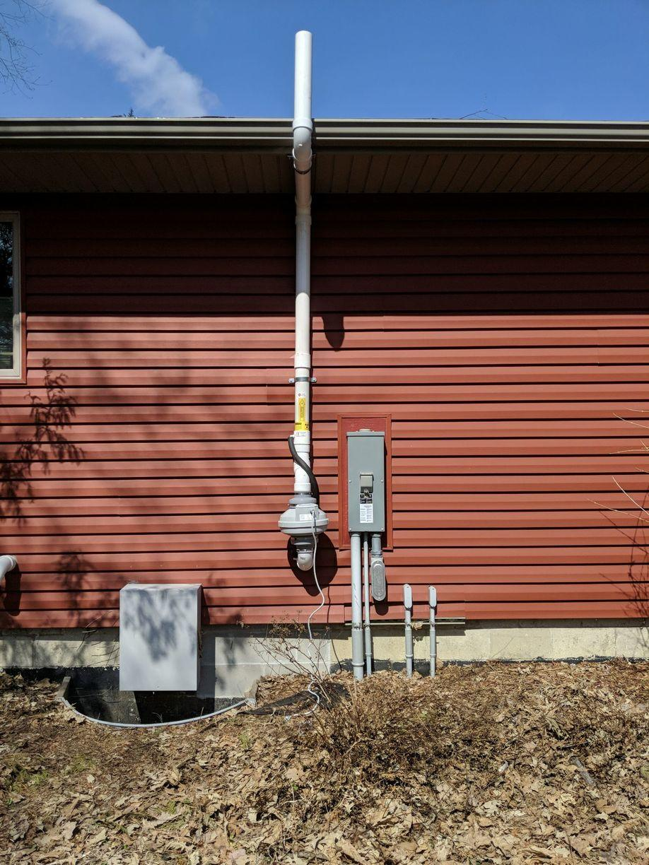 Radon Detection and Mitigation in Mason City, IA - After Photo