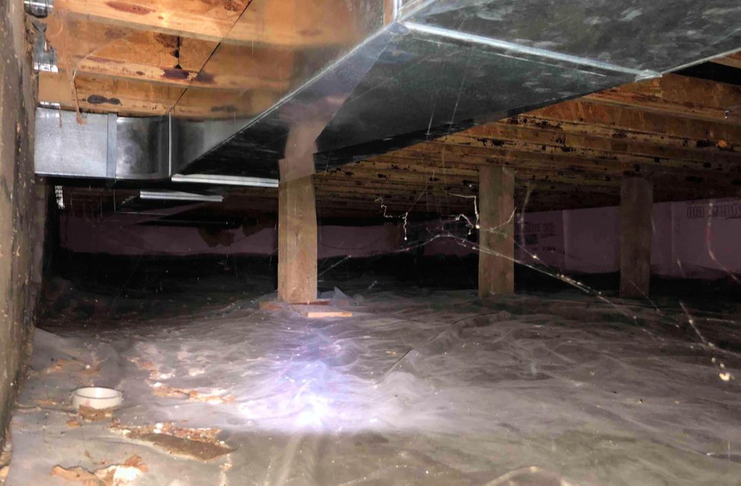 Crawl Space Waterproofing in Rushmore, MN - Before Photo