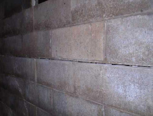 Wall Anchors Stabilize Wall in Eastman, WI - Before Photo