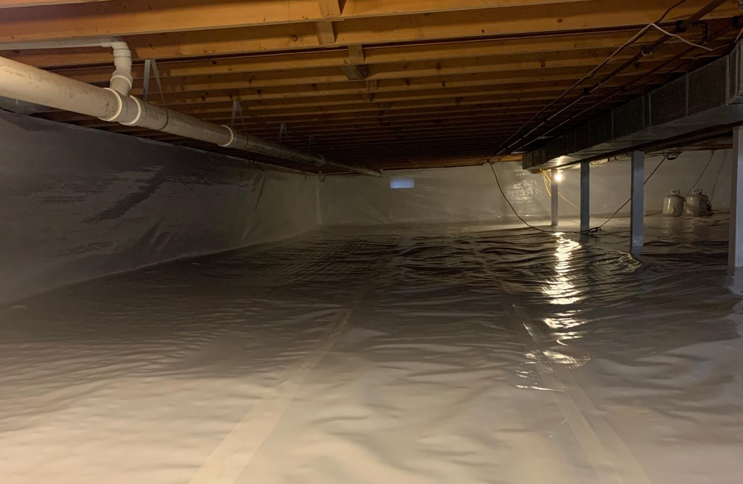 Crawl Space Waterproofing in Camp Douglas, WI - After Photo