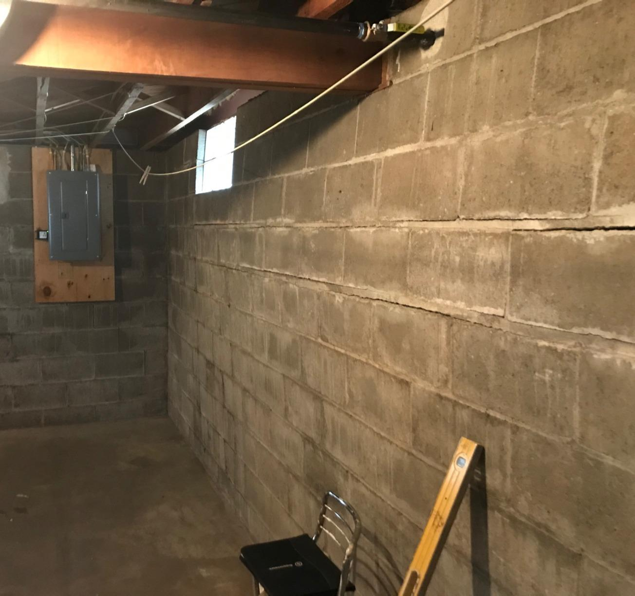 Foundation Wall Repaired in Winona, MN - Before Photo