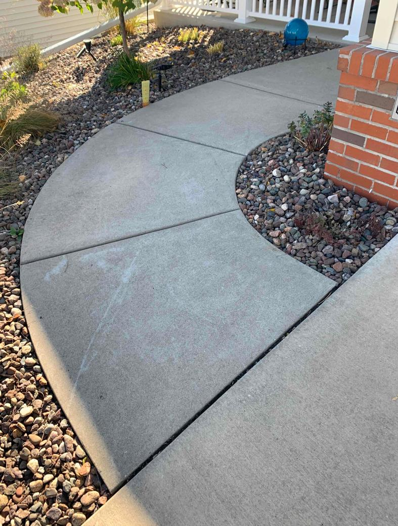 Concrete Repaired in Holmen, WI - Before Photo
