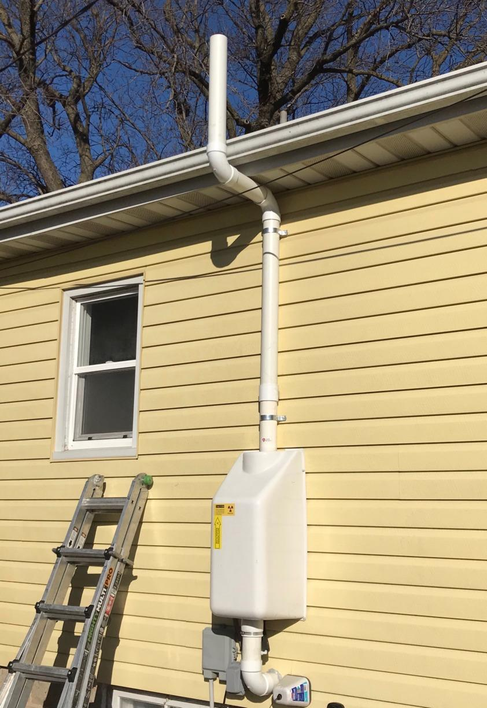 Radon Mitigation System in Mason City, IA - After Photo