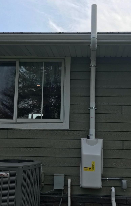 Radon Mitigation System Installed in Albert Lea, MN - After Photo