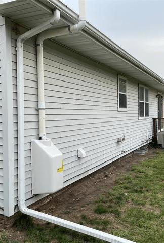 Radon Mitigation System Installed in Mason City, IA - After Photo