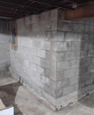 Wet Basement Waterproofing in Wilton, WI - Before Photo
