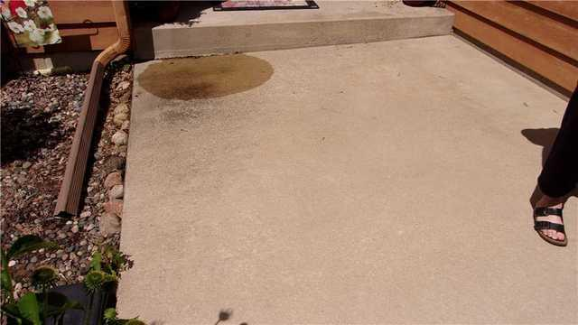 Sinking sidewalk slab - Rochester MN