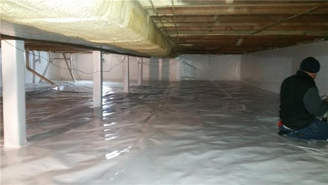 Dirt Crawlspace in Clear Lake, IA