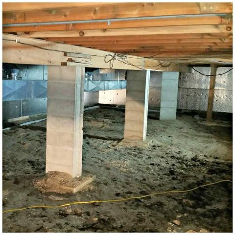 Church Crawlspace Waterproofing in Mason City, IA