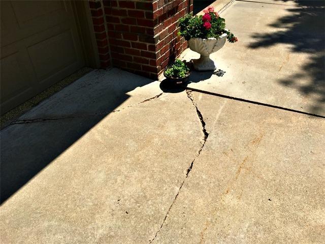 Uneven Concrete Driveway in Rochester MN