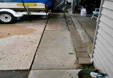 Uneven Concrete Garage Apron in Pine Island, MN