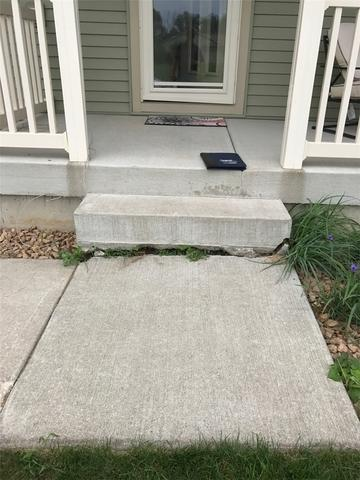 Sunken and Uneven Stoop in Trempealeau, WI
