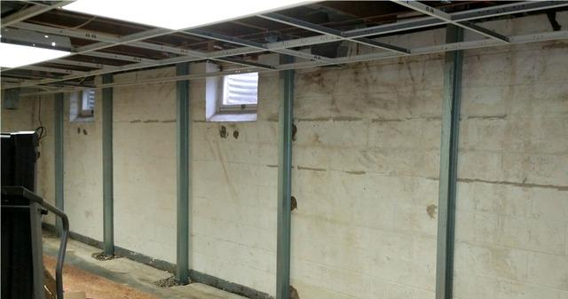 Bowing Foundation Walls Stabilized in Hugo, MN