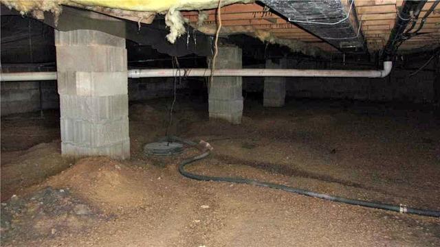 Sagging Crawl Space in Racine, MN