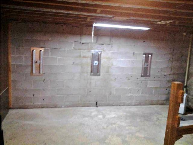 Bowing Basement Wall Stabilized in Waconia, MN
