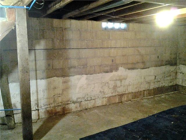 Bowing Walls Stabilized with Wall Anchors in Hendricks, MN