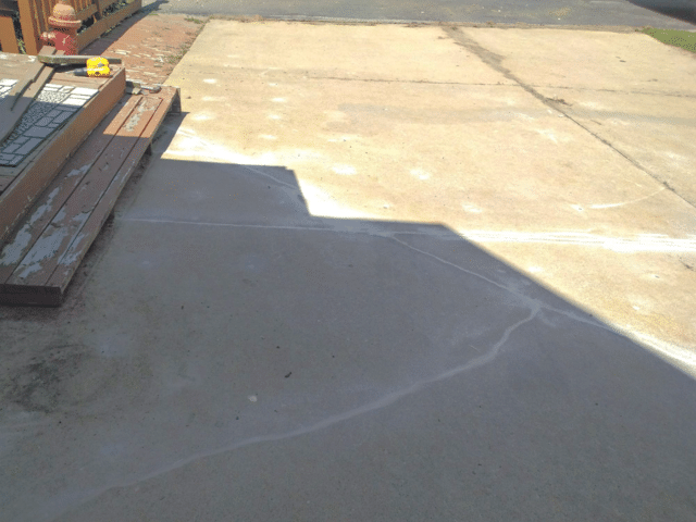 Cracked Driveway in Genoa, WI