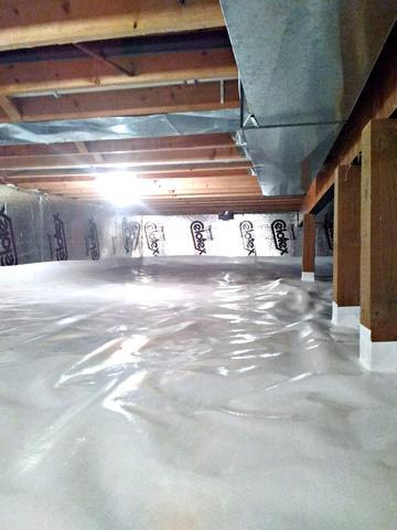 Crawl Space Encapsulated in Saint Paul, MN